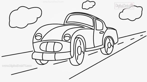 570x320 Cartoon Cars To Draw How To Draw A Cartoon Car Step By Step
