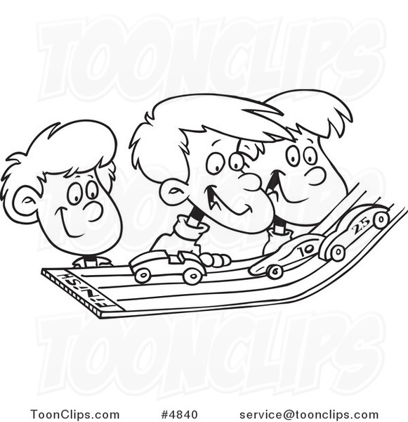 581x600 Cartoon Black And White Line Drawing Of A Group Of Kids Playing