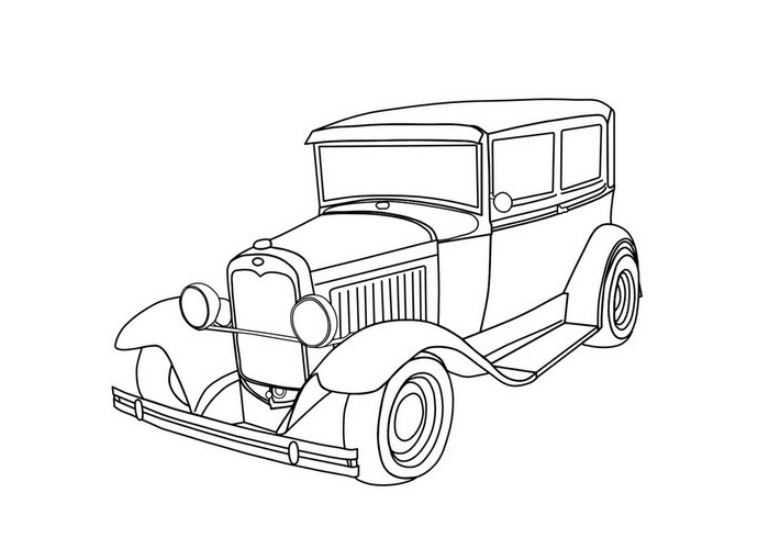 700x500 Cartoon Cars Coloring Pages