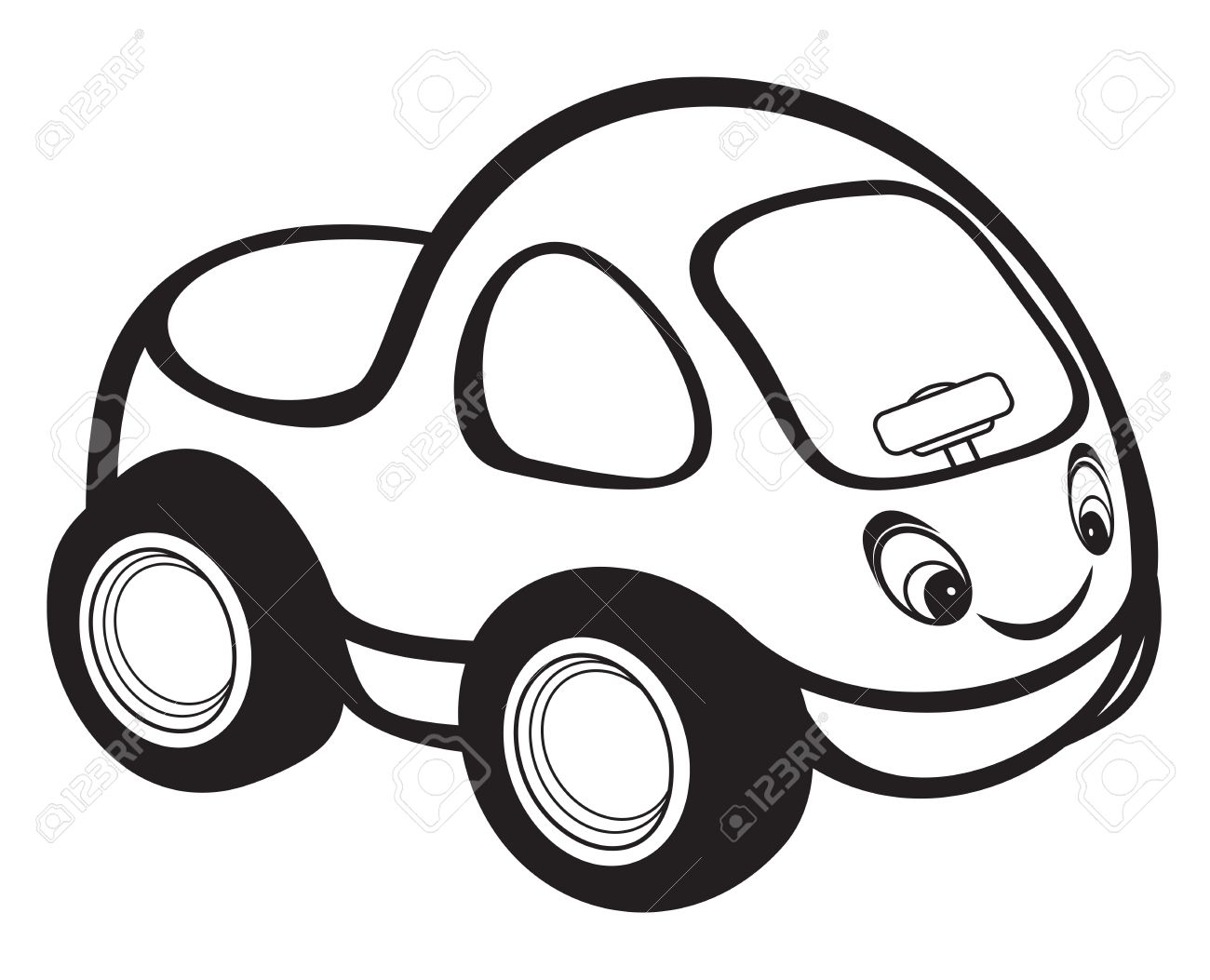 1300x1053 Cute Kids Race Car Black And White Royalty Free Cliparts, Vectors
