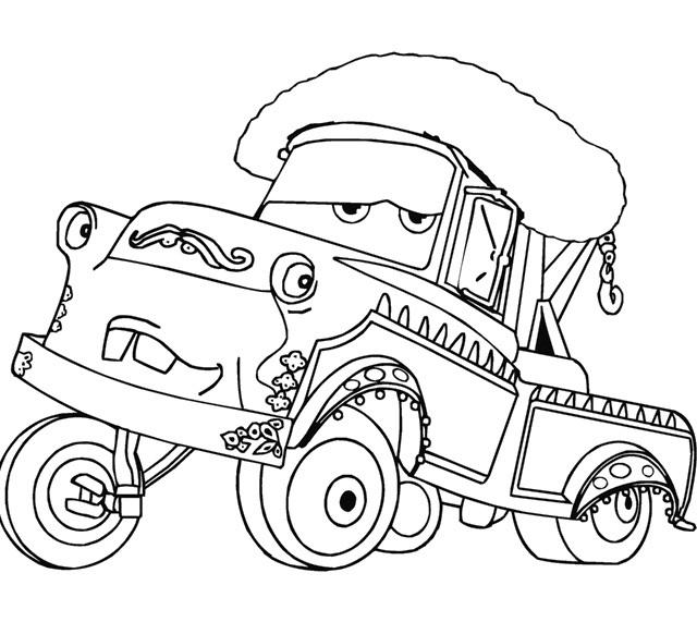 640x582 El Martindor Car Cartoon Coloring Page