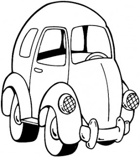 287x320 Cute Car Colorig Pages Cartoon Coloring Pages