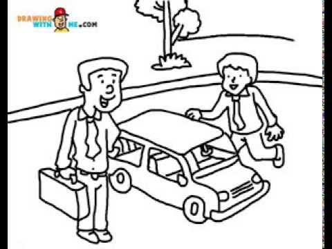 480x360 How To Draw People And Car