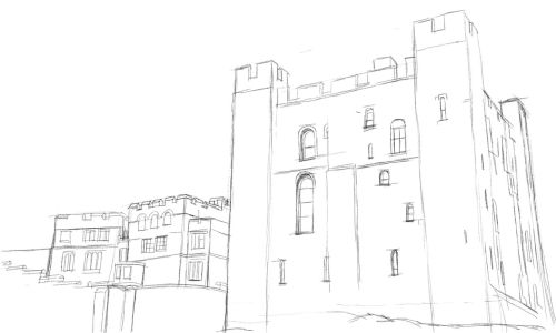500x300 Castle Drawing. Draw A Castle In An Easy Step By Step Drawing Lesson