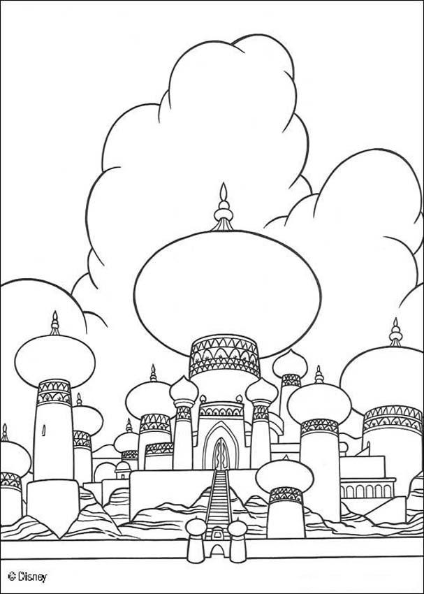 607x850 Coloring Page About Aladdin Disney Movie. Nice Drawing