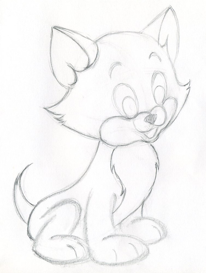 660x875 How To Draw Cartoon Kitten Easily And Effortlessly In Few Simple