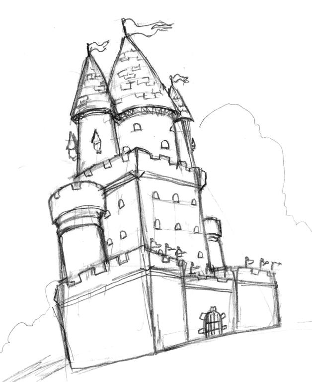 628x768 Cartoon Castle By Albundyland