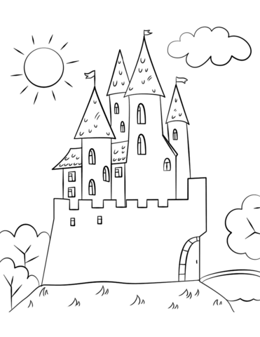 371x480 Cartoon Castle Coloring Page Free Printable Coloring Pages