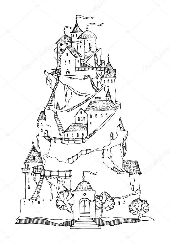 712x1023 Cartoon Castle Stock Vector Fla