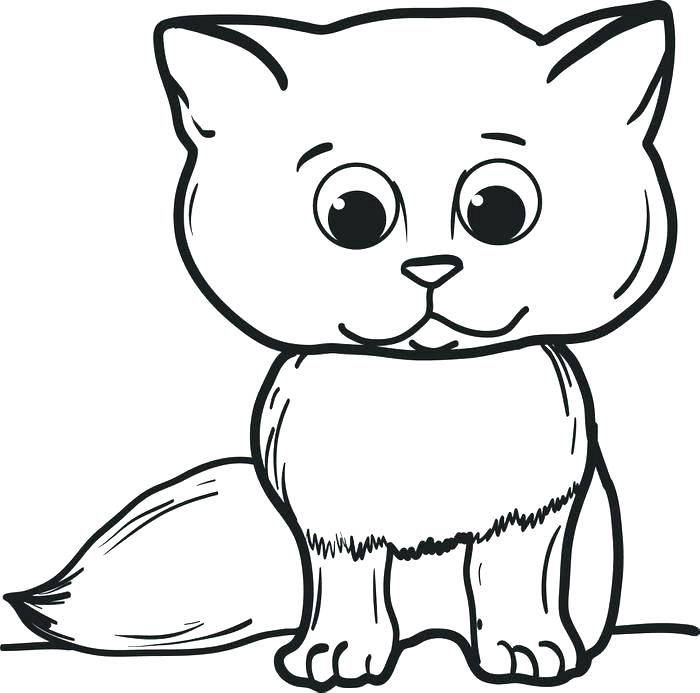 700x693 Coloring Pages Of A Cat Hello Kitty Coloring Pages Printable Free