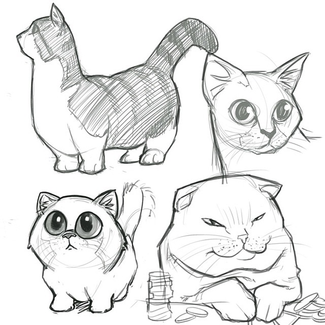640x640 Image Result For Cartoon Cat Drawing Tumblr Cats Drawings