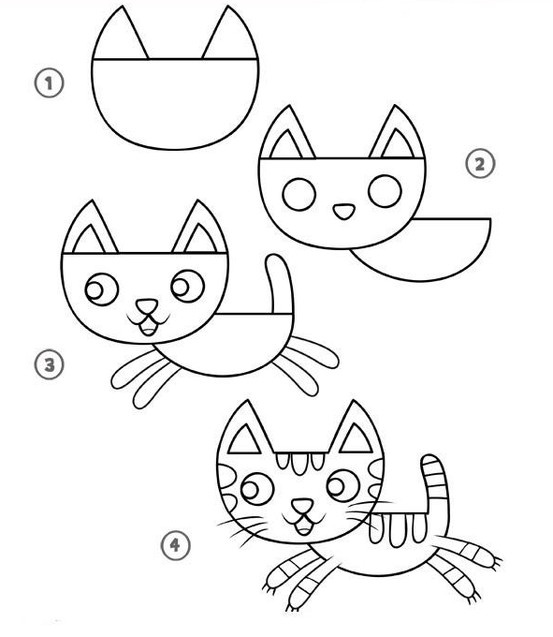 Cartoon Cat Drawing Tutorial