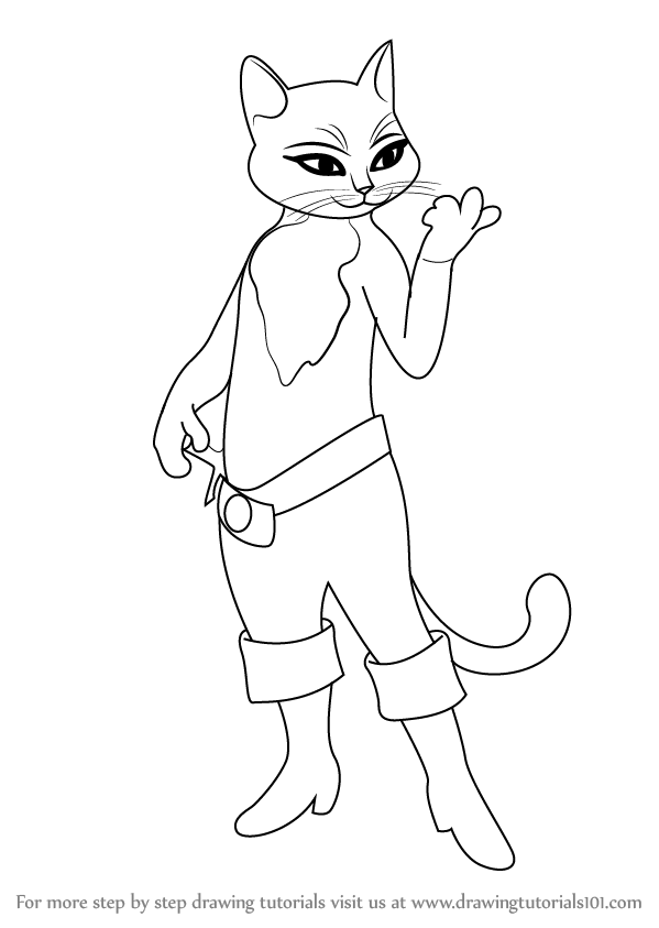 599x843 Learn How To Draw Kitty Softpaws From Puss In Boots (Puss In Boots
