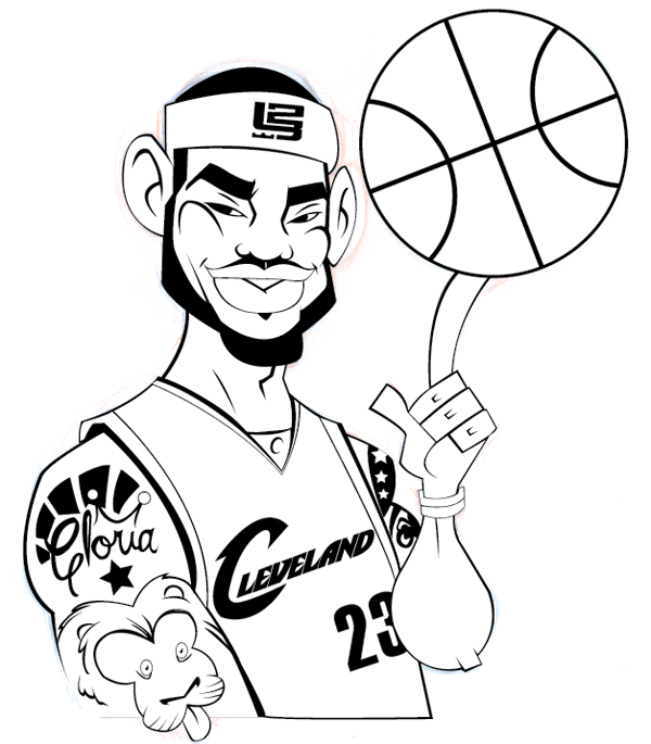 600x685 How To Illustrate A Lebron James Cartoon Character