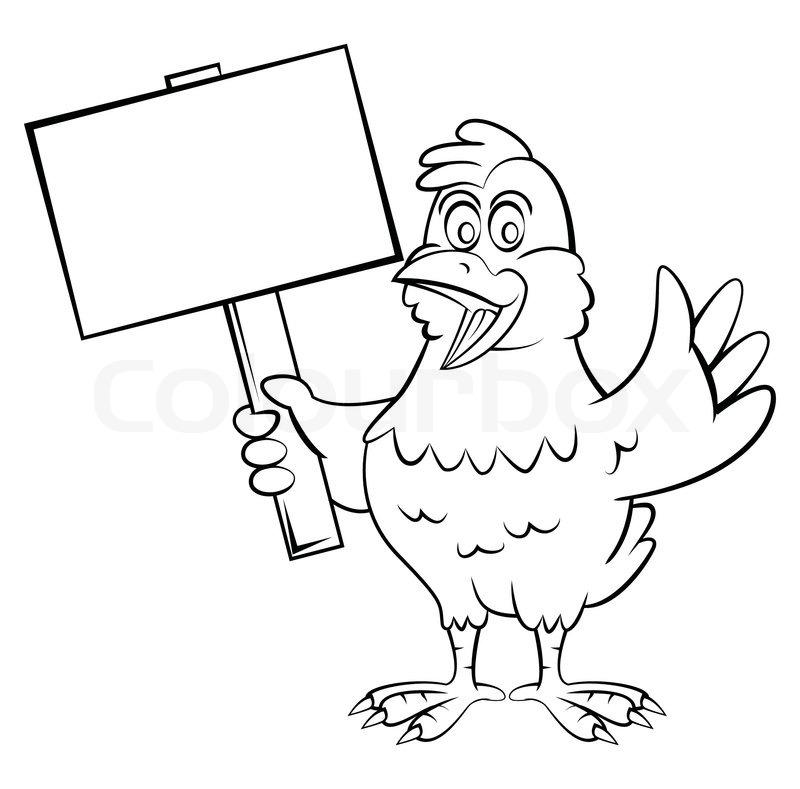 800x789 Chicken Cartoon Stock Vector Colourbox