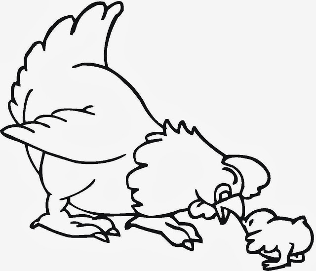 640x549 Colour Drawing Free Wallpaper Hen And Chicken Mom Baby Drawing