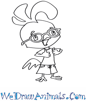 300x350 How To Draw Chicken Little