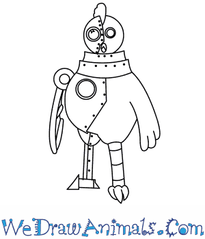 300x350 How To Draw Robot Chicken