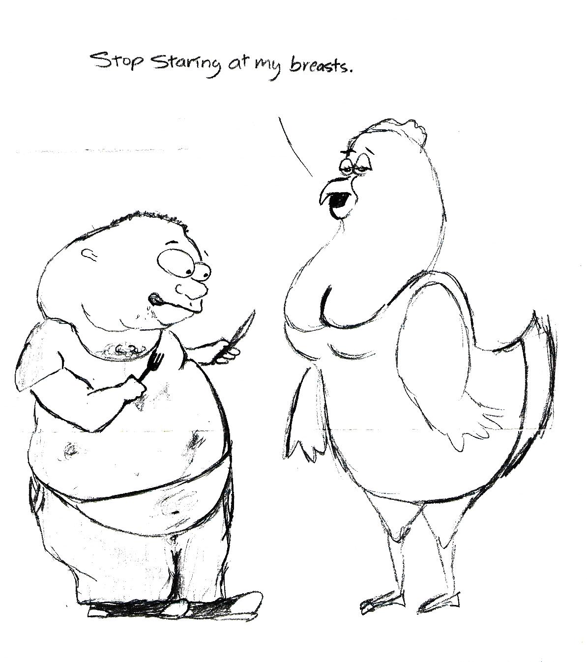 1194x1347 One Sad Monkey Cartoon