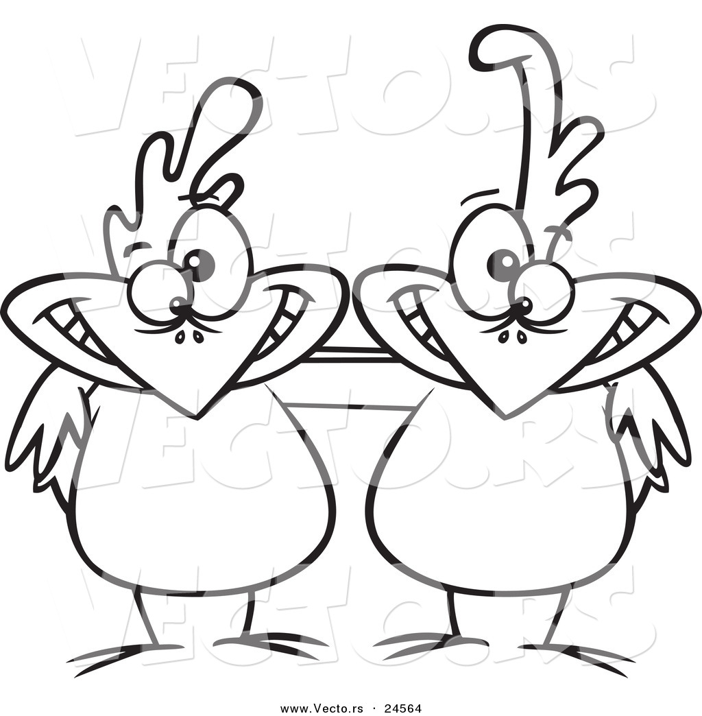 1024x1044 Vector Of A Cartoon Chicken Buddies