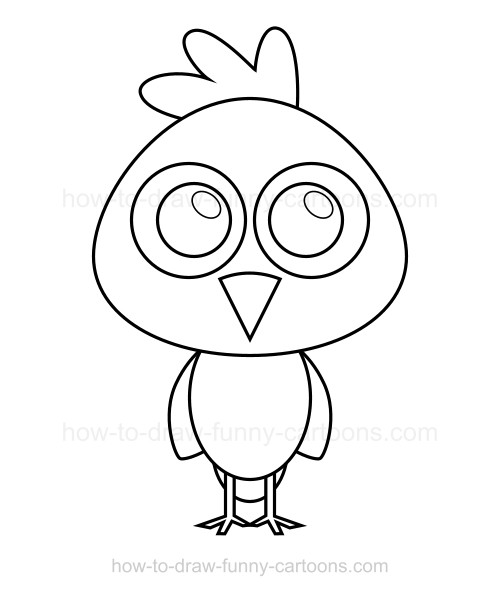 500x596 To Draw A Chicken