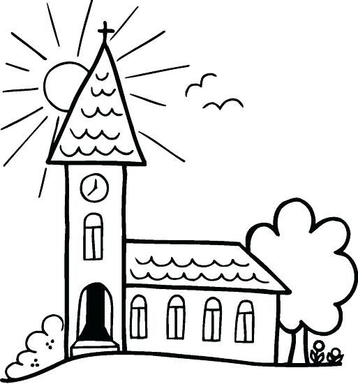 513x550 Top Rated Church Coloring Pages Pictures Drawing Church Coloring