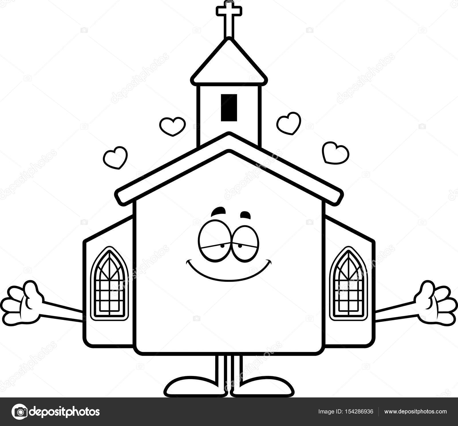 1600x1491 Cartoon Church Hug Stock Vector Cthoman