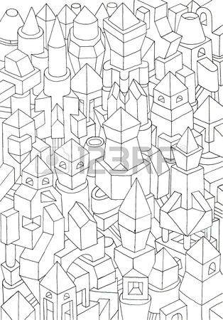 314x450 Geometric Forms Drawn In Pencil, Ink On Cartoon, Jam Of Forms