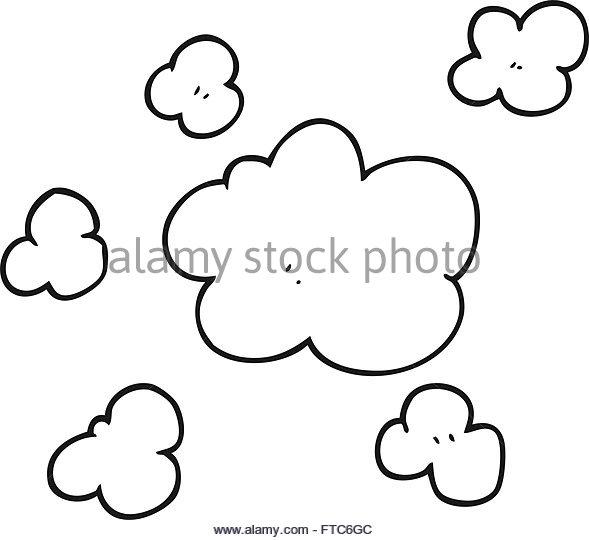 589x540 Freehand Drawn Cartoon Smoke Clouds Stock Photos Amp Freehand Drawn