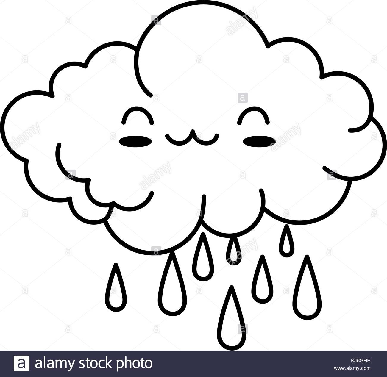 1300x1267 Happy Cartoon Rain Cloud Stock Photos Amp Happy Cartoon Rain Cloud