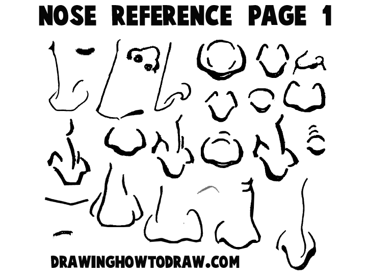 720x540 Cartoon Noses Reference Sheets And Examples For Drawing Practice