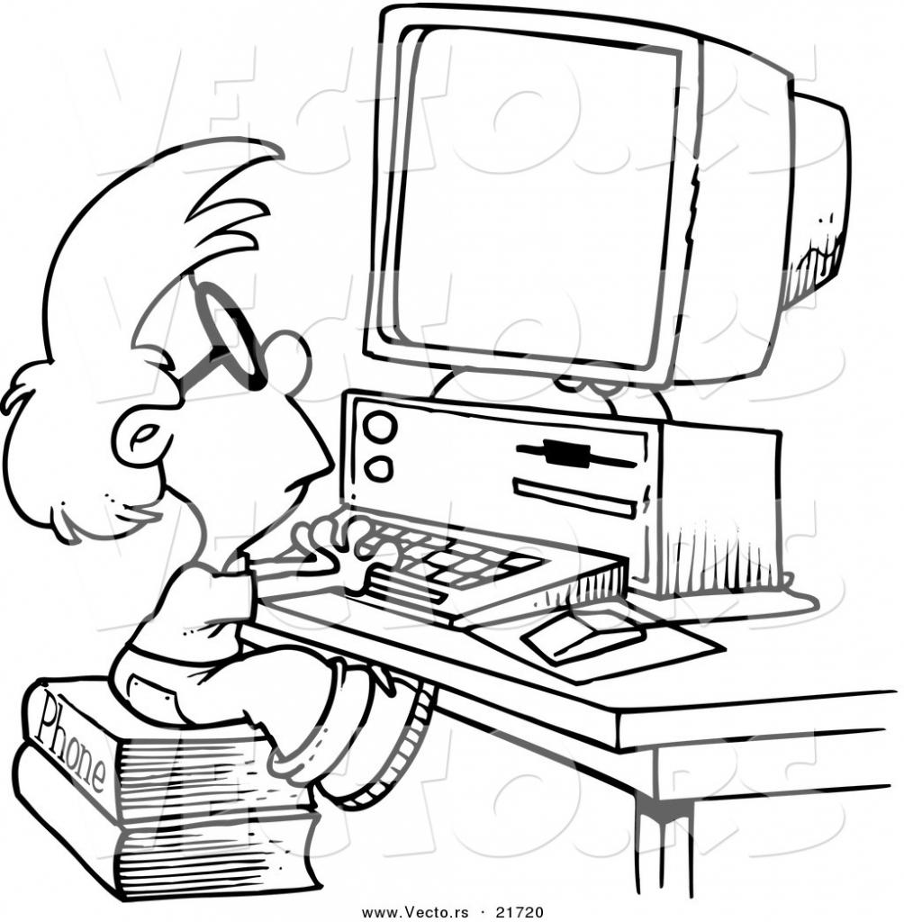 1004x1024 Computer Cartoon Drawing Computer Cartoon Drawing