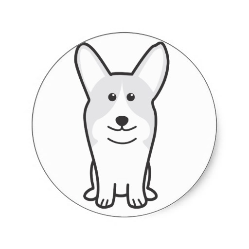 512x512 Pembroke Welsh Corgi Dog Cartoon Stickers Pembroke Welsh Corgi