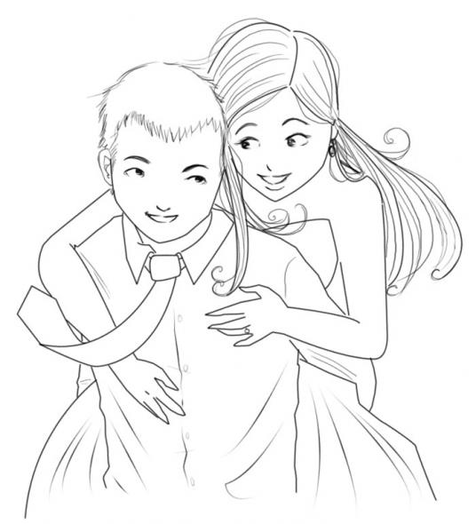Cartoon Couple Drawing At Getdrawings Com Free For Personal Use