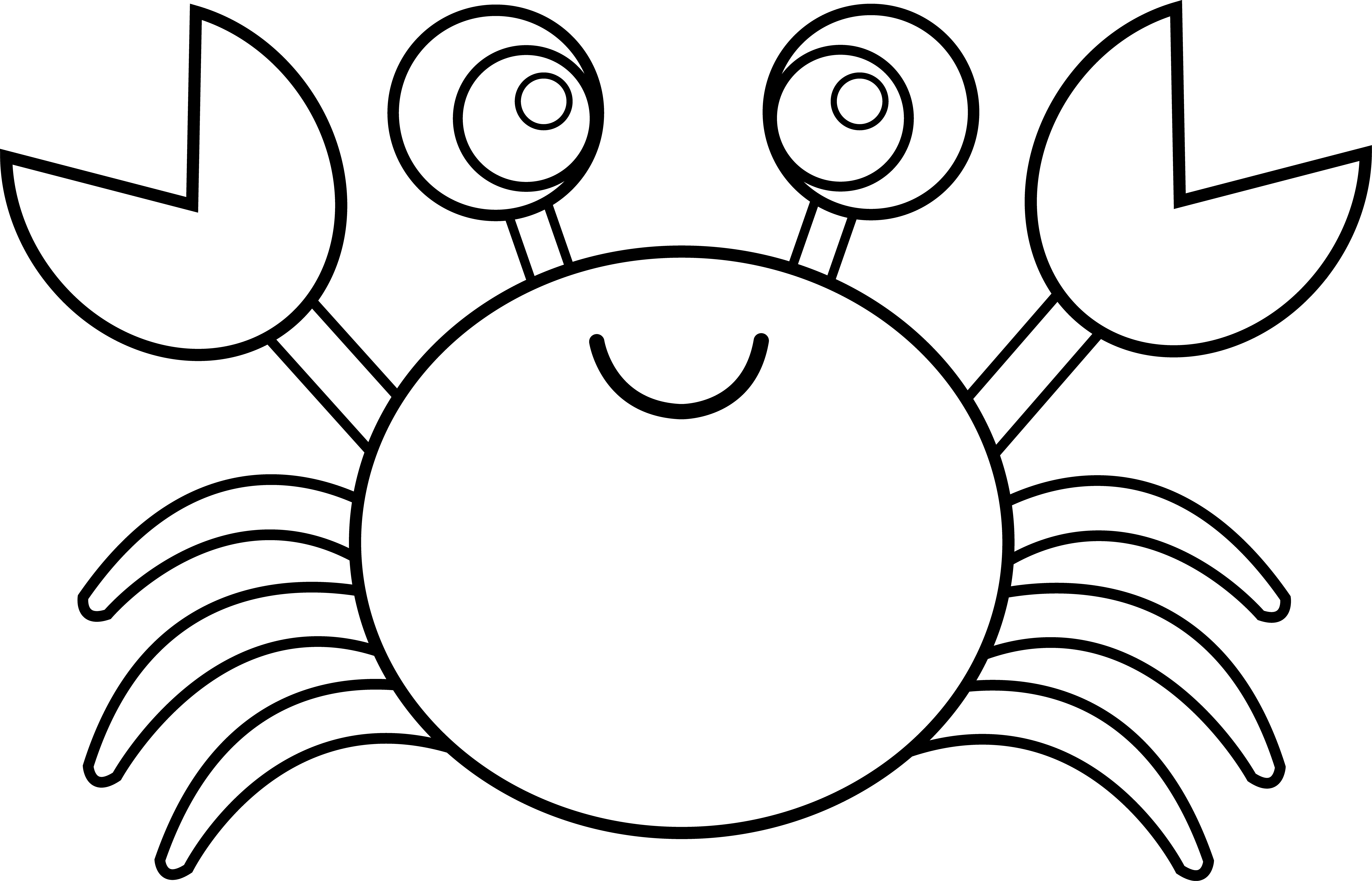 Cartoon Crab Drawing At Getdrawingscom Free For Personal Use