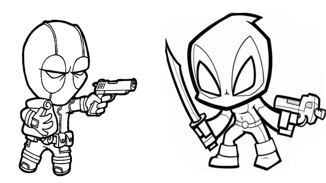 Cartoon Deadpool Drawing