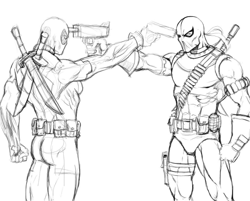 1020x820 Deadpool Vs DeathStroke 2 By Kaywest On DeviantArt