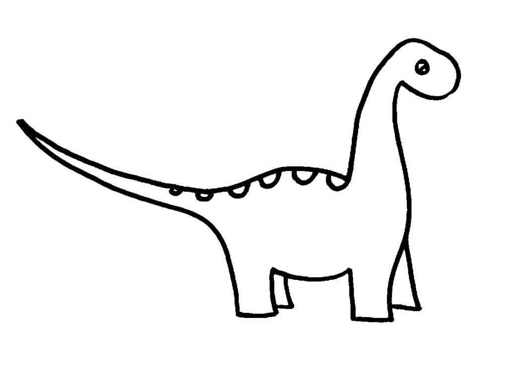 1024x768 Cartoon Dinosaur Drawing Drawn Dinosaur Line Drawing
