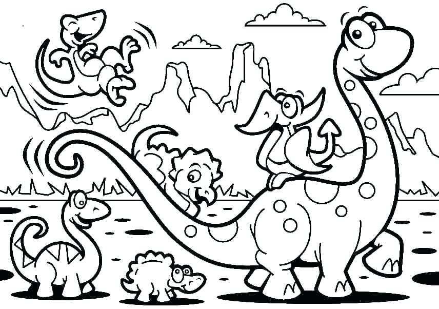 856x602 Dinosaur Coloring Pages Coloring Pages Of Dinosaurs Drawing Kids
