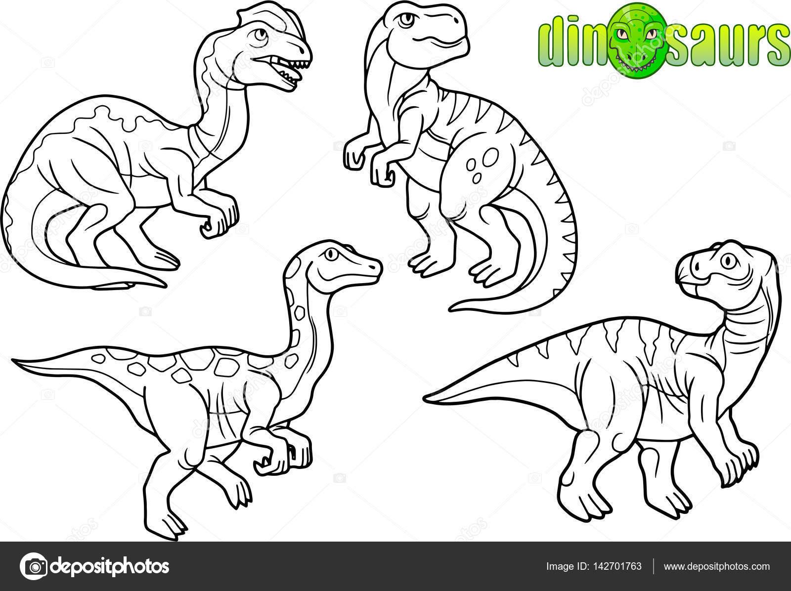1600x1196 Cartoon Drawings Of Dinosaurs. Stock Vector Fargon