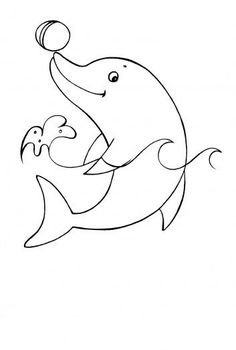 cartoon dolphin drawing at getdrawings com free for personal use