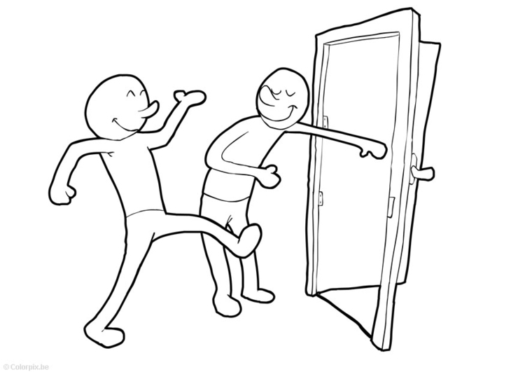 750x531 Coloring Page Hold Door Open