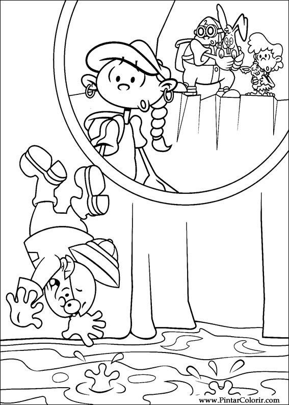 567x794 Drawings To Paint Amp Colour Kids Next Door