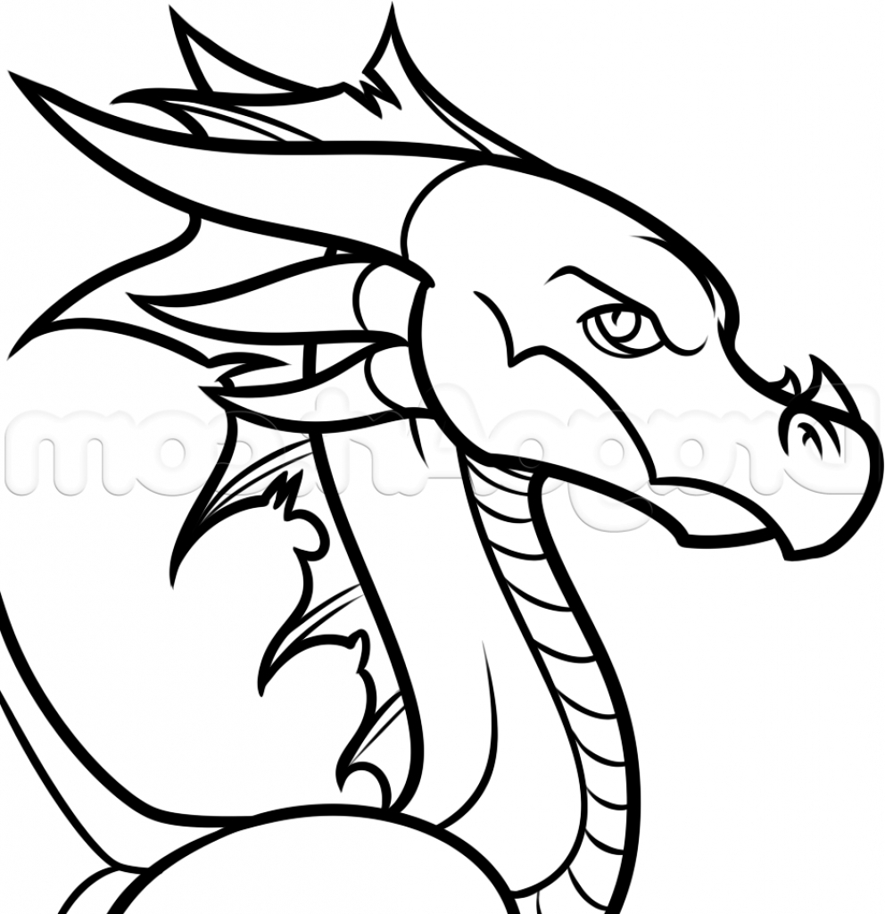 992x1024 Easy Pictures Of Dragons Draw Easy Drawing Of A Dragon How