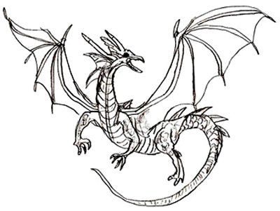 400x301 How To Draw A Dragon