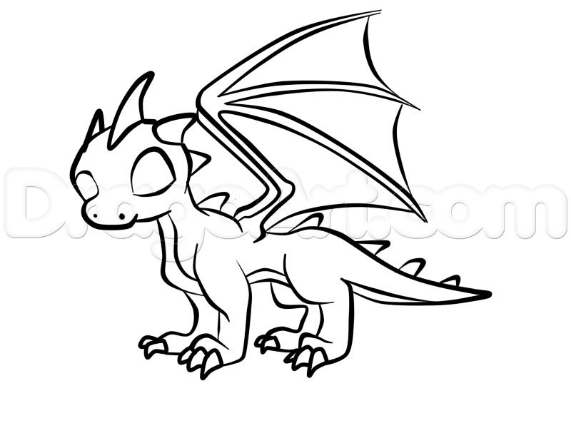 800x600 How To Draw A Baby Dragon Step 6 Dragons (From Drawing Ideas