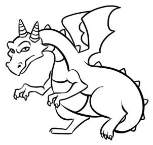 302x287 Coloring Pages Simple Dragon Drawings Easy Coloring Pages Simple