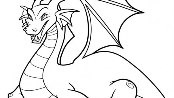 570x320 Dragon Cartoon Drawing Cartoon Dragon Drawing