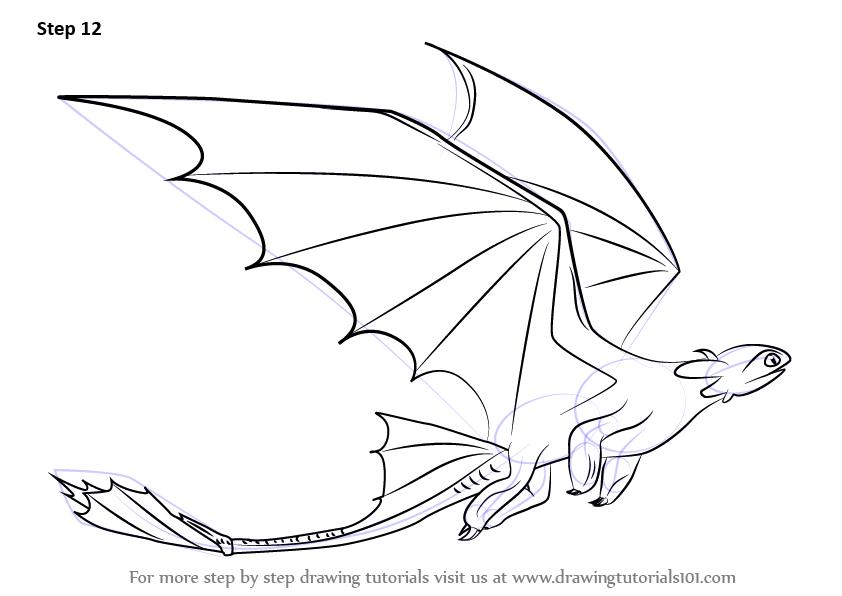 842x596 How Draw A Cartoon Dragon Flying How