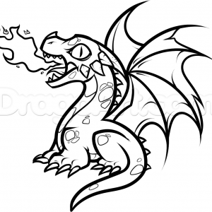 300x300 Images Of Cartoon Dragons How To Draw A Dragon Dce Step Adult